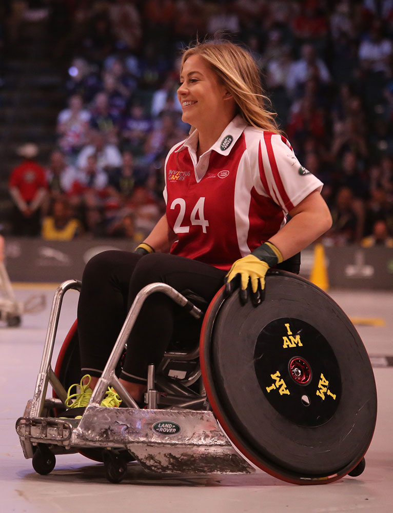 Teen athlete in wheelchair