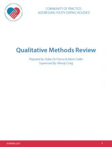 Qualitative Methods Review
