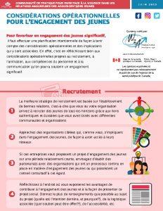 Considérations opérationnelles pour l'engagement des jeunes